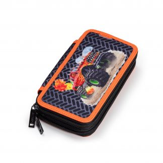 pencil case with monster truck