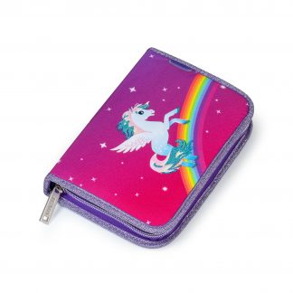 pencil case with horse and rainbow