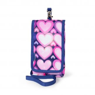 mobile cover with pink hearts