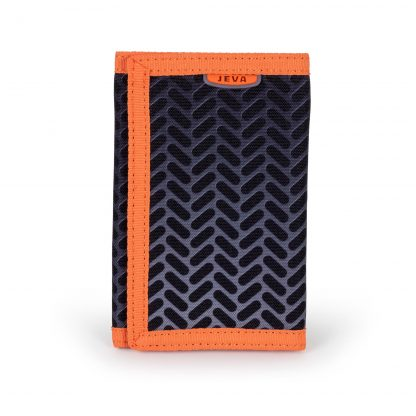 black and orange wallet for children