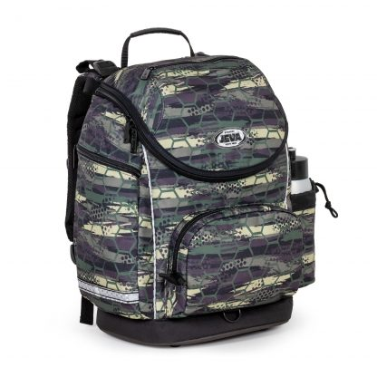 Cool schoolbag with abstract camouflage pattern