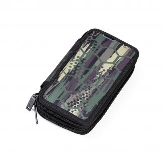 pencil case with an abstract pattern
