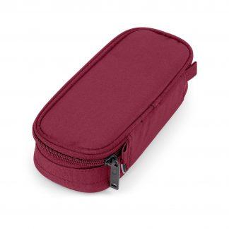 dark red pencil case